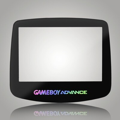 Game Boy Advance Glass Screen (Black Holographic)