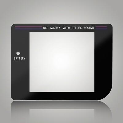 Game Boy Glass Screen (Black)