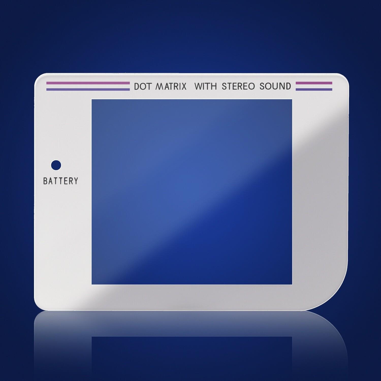 Game Boy Glass Screen (White)