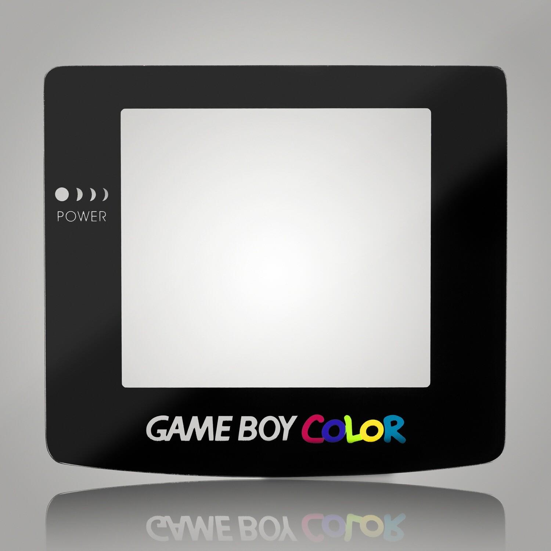 Game Boy Color Glass Screen (Black)