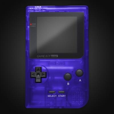 Game Boy Pocket Shell Kit (Clear Royal Blue)
