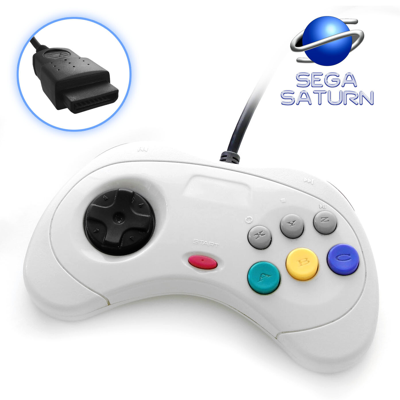 Sega Saturn Controller (White)