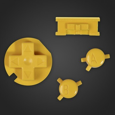 Game Boy Color Buttons (Yellow)