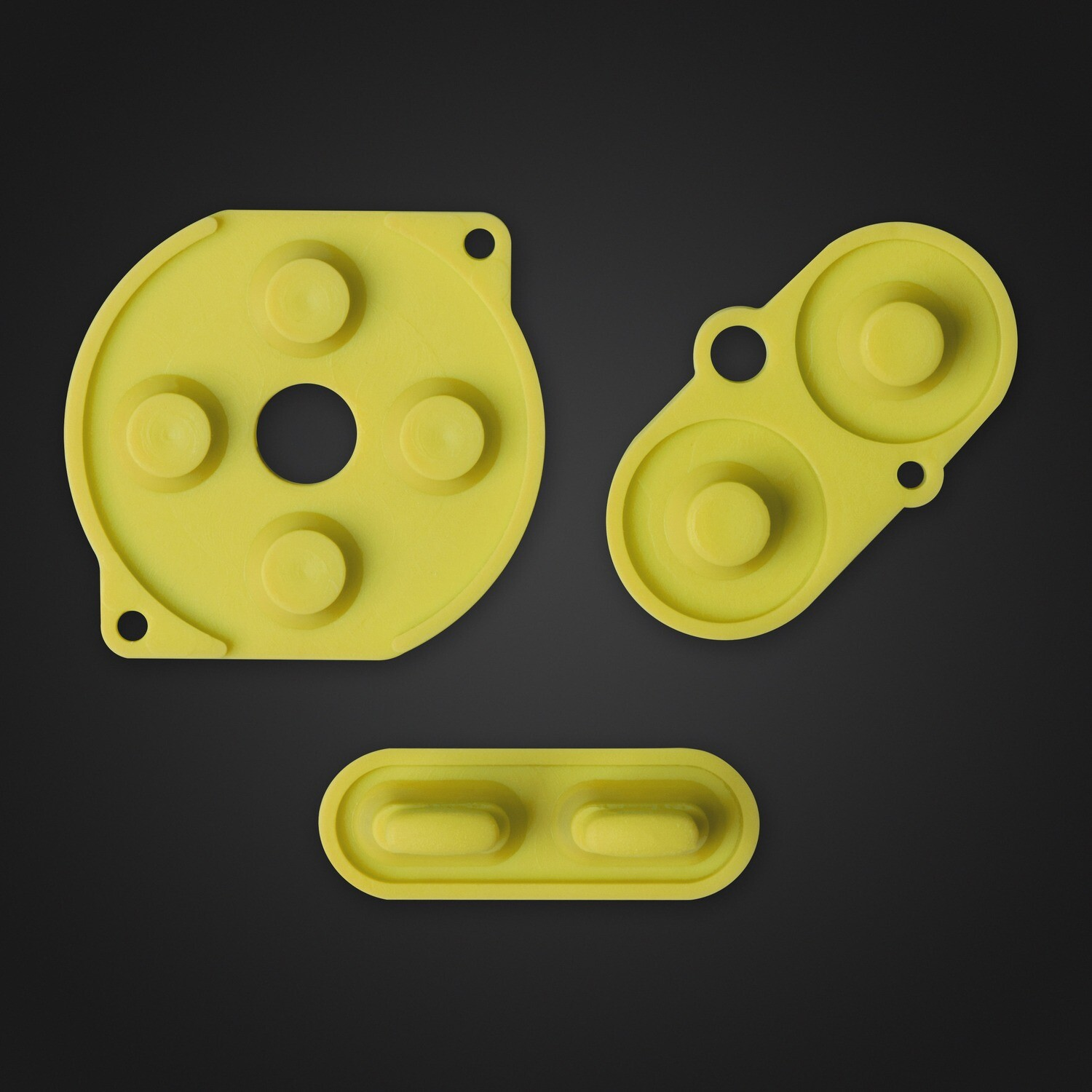 Game Boy Color Rubber Pads (Yellow)