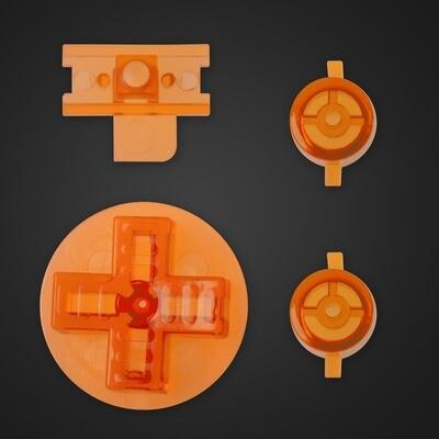 Game Boy Original Buttons (Clear Orange)