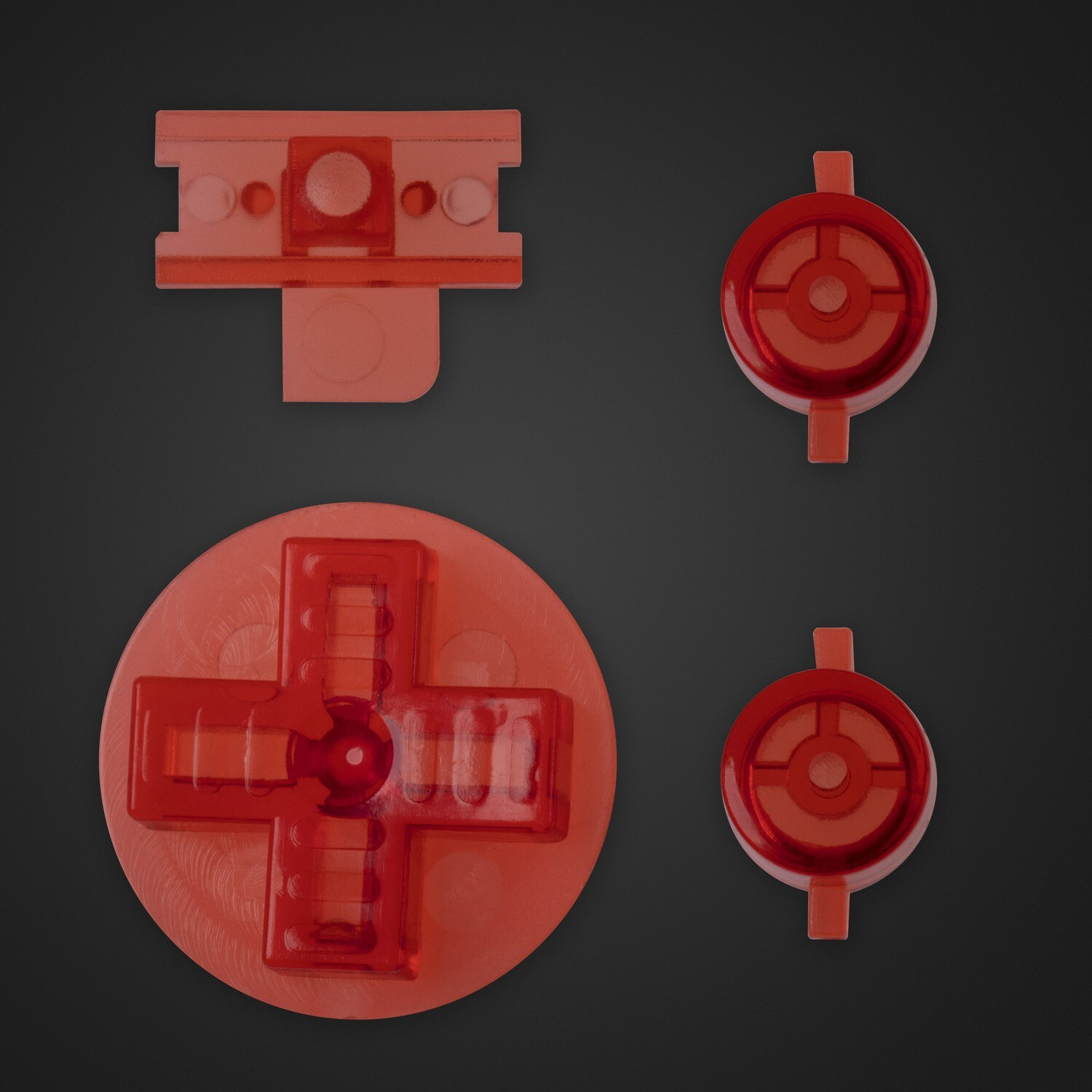 Game Boy Original Buttons (Clear Red)