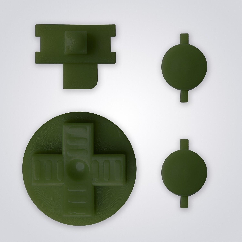 Game Boy Original Buttons (Dark Green)