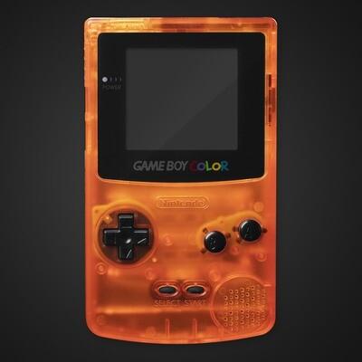 Game Boy Color Shell Kit (Clear Orange)