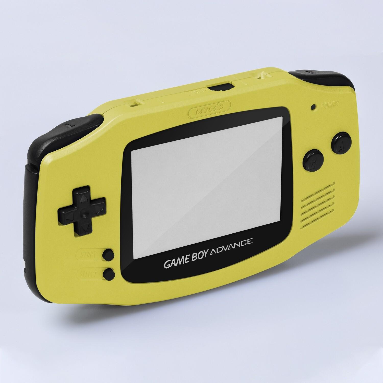 Game Boy Advance IPS Shell Kit (Pearl Yellow)