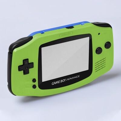 Game Boy Advance IPS Shell Kit (Pearl Green/Blue)