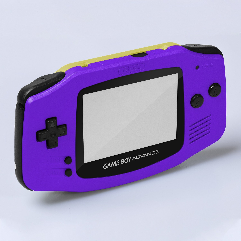 Game Boy Advance IPS Shell Kit (Pearl Purple/Yellow)