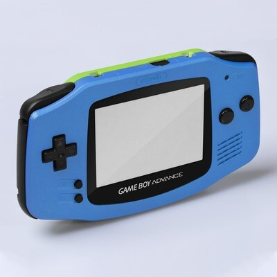 Game Boy Advance IPS USB-C Shell Kit (Pearl Blue/Green)
