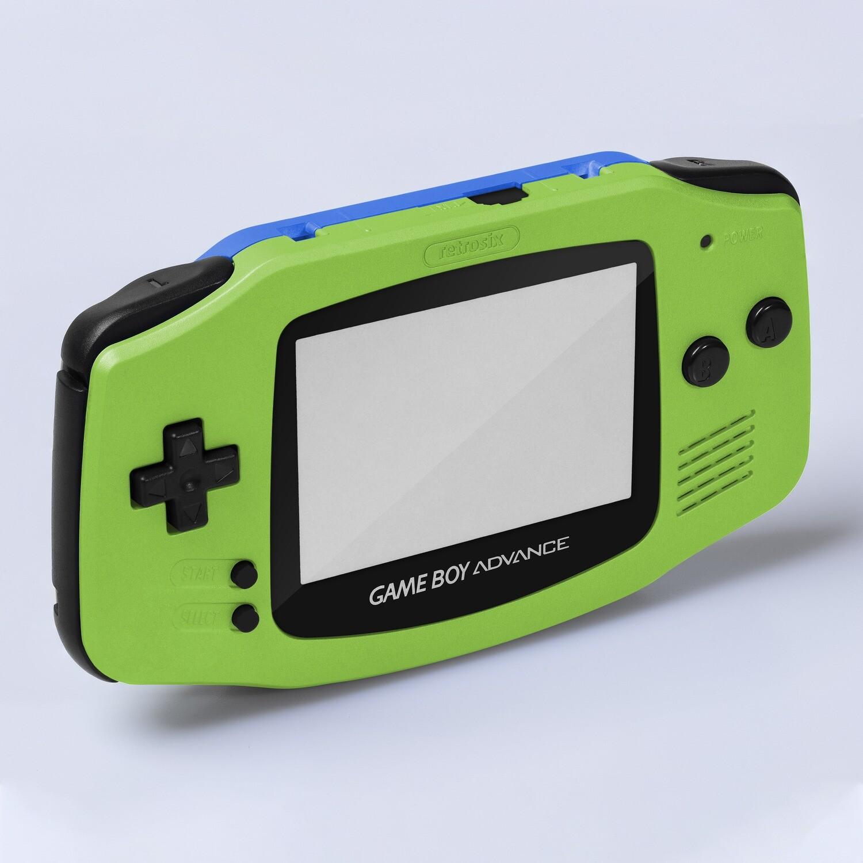 Game Boy Advance IPS USB-C Shell Kit (Pearl Green/Blue)