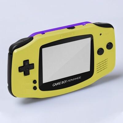 Game Boy Advance IPS USB-C Shell Kit (Pearl Yellow/Purple)