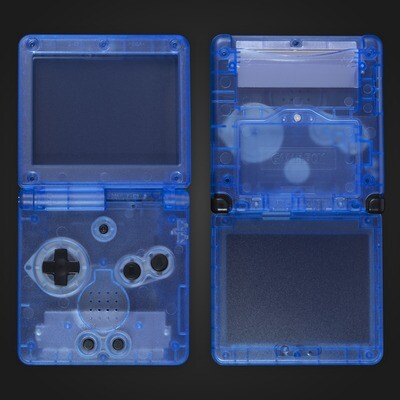 Game Boy Advance SP Shell Kit (Clear Blue)