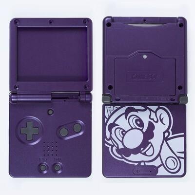 Game Boy Advance SP Shell Kit (Mario Purple)