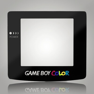 Game Boy Color Glass Screen (Black)