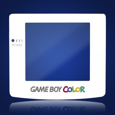Game Boy Color Glass Screen (White)