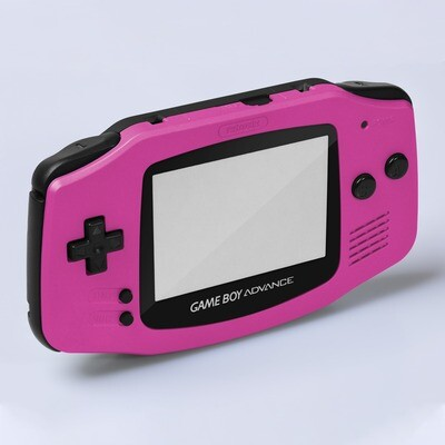 Game Boy Advance IPS Shell Kit (Pearl Pink/Black)