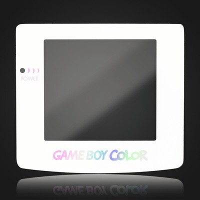 Game Boy Color Glass Screen (White Holographic)