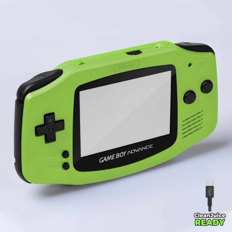 Game Boy Advance IPS USB-C Shell Kit (Pearl Green)