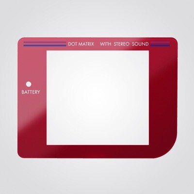 Game Boy Glass Screen (Red)