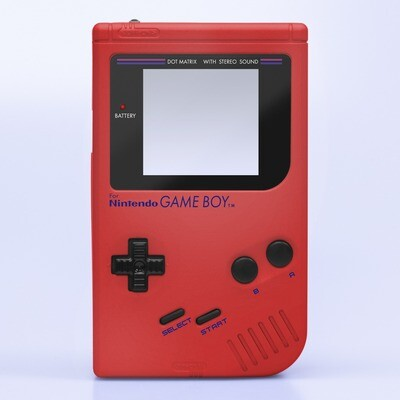 Game Boy Original IPS Shell Kit (Pearl Red)