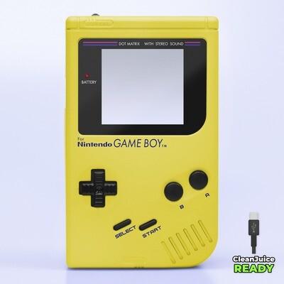 Game Boy Original IPS USB-C Shell Kit (Pearl Yellow)