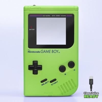 Game Boy Original IPS USB-C Shell Kit (Pearl Green)