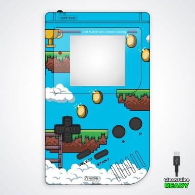 Game Boy Original IPS USB-C UV Shell Kit (Platformer 1)