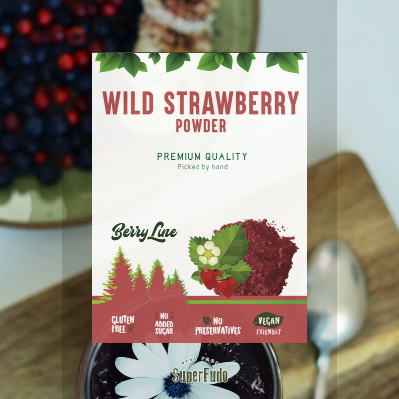Wild Strawberry powder (wild) | PREMIUM Quality ~90g / ~3.17oz