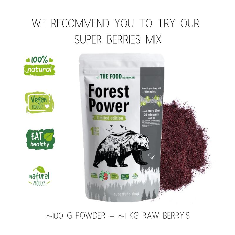 """Forest Power"" Wild Berries Powder Mix | PREMIUM Quality  ~190g / ~3.17oz"