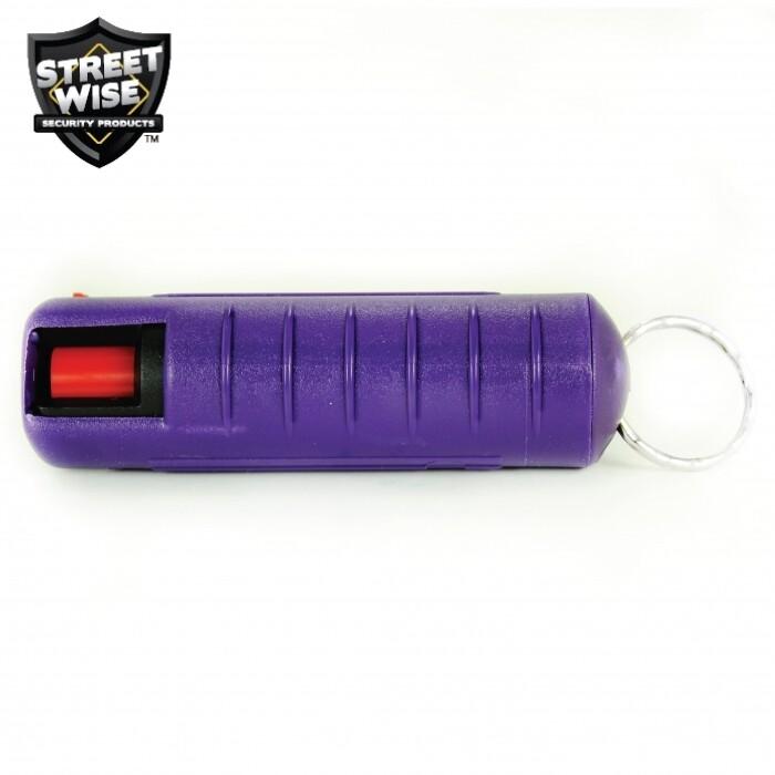 Lab Certified Streetwise 18 Pepper Spray, 1/2 oz. Hard Case PURPLE