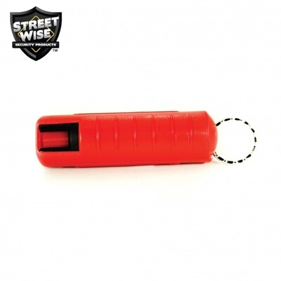 Lab Certified Streetwise 18 Pepper Spray, 1/2 oz. Hard Case RED