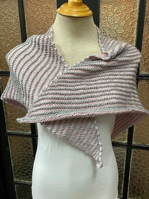 Pink and Grey Shawl