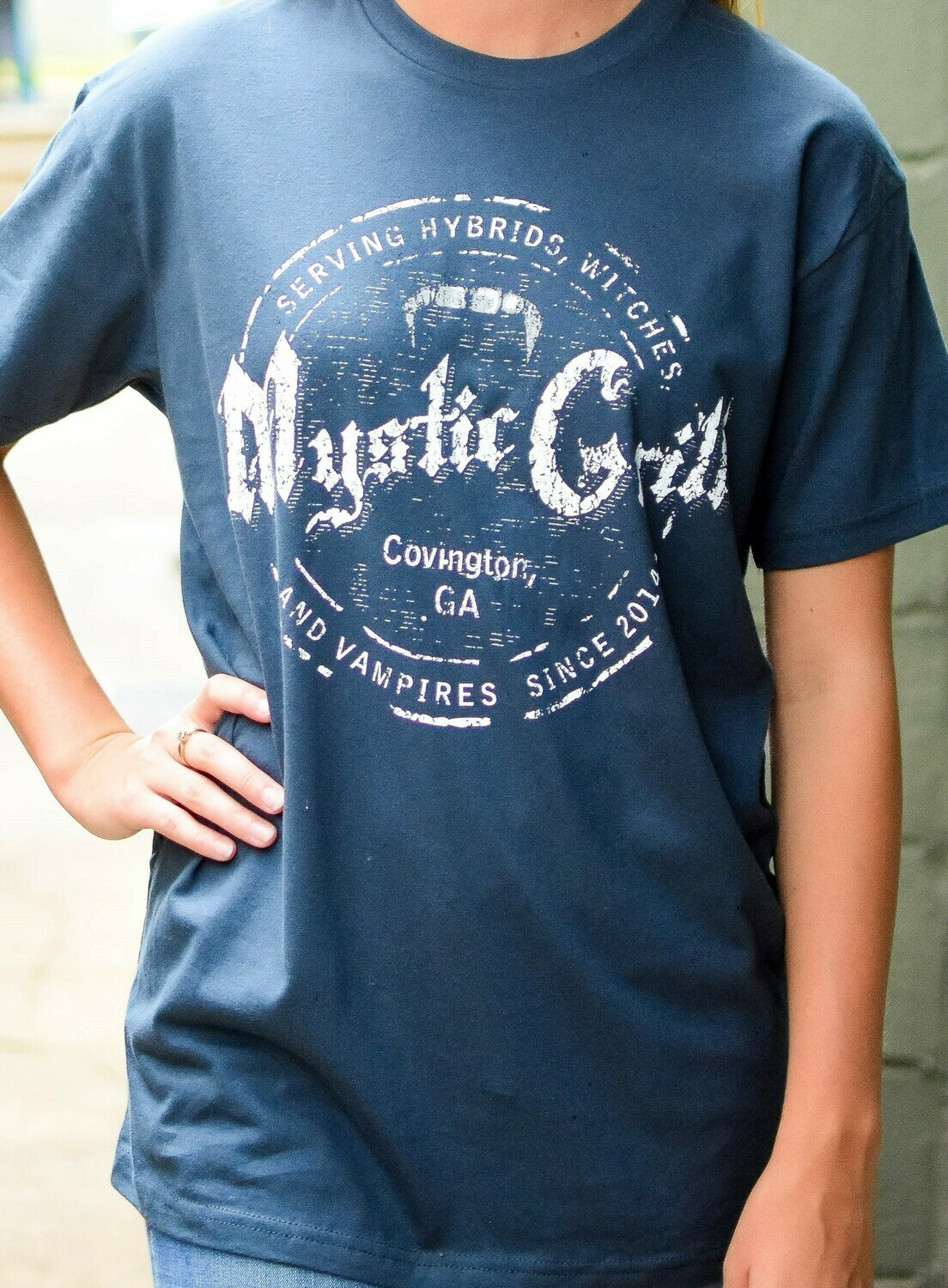 Blue Mystic Grill Stamp Short Sleeve Front