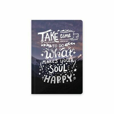 Планер Еженедельник тетрадь с обложкой «Найди время для счастья»