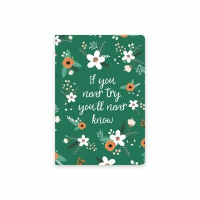 Планер Еженедельник тетрадь с обложкой «Flat flowers green»