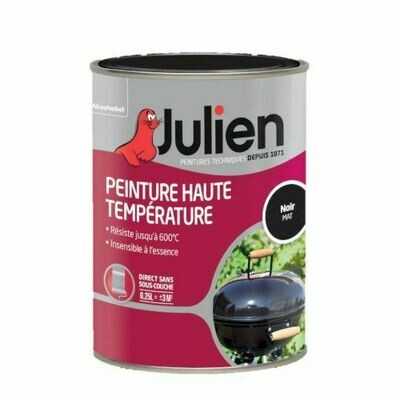 JULIEN PEINTURE HAUTE TEMPERATURE NOIR MAT 250 ML AKZO NOBEL 3031520179270 DIY PAINT BARBECUE COMASOUND KARTEL