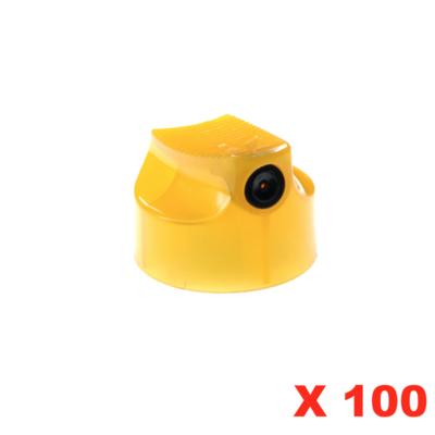 SUPER SKINNY BANANA YELLOW CAP  X 100 AEROSOL SPRAY CANS PAINT GRAFFITI ART DIFFUSEUR PRO PACK SET LOT COMASOUND KARTEL CSK ONLINE