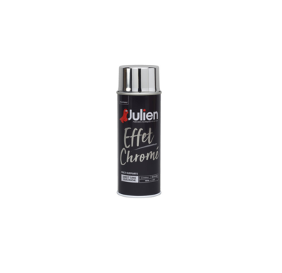 JULIEN PEINTURE EFFET CHROME 3256615080044 SILVER PRO 400 ML SPRAY PAINT DECORATION ART BRICOLAGE RENOVATION RENOVER BOMBE COMASOUND KARTEL CSK ONLINE