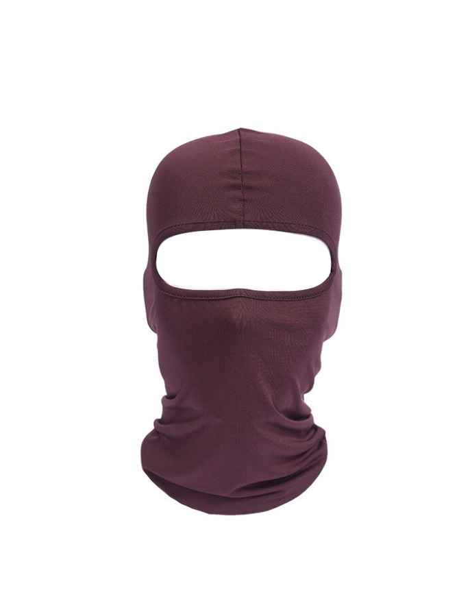 CAGOULE SKI MASK BALACLAVA LYCRA NINJA MOTO MOTOR   BROWN BIKE FROID EXTREME RANDO PECHE CHASSE VELO QUAD AIRSOFT PAINT BALL GRAFFITI PROTECTION MONTAGNE SPANDEX COMASOUND KARTEL CSK ONLINE ( 2 )