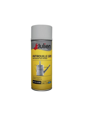 JULIEN PEINTURE ANTIROUILLE GRIS MAT 3256615070281 PRO 400 ML SPRAY PAINT DECORATION ART BRICOLAGE RENOVATION RENOVER BOMBE COMASOUND KARTEL CSK ONLINE