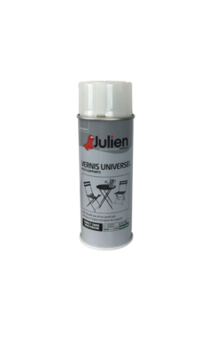 JULIEN PEINTURE VERNIS UNIVERSEL SATIN NEUF ROUILLE METAUX 3256615070113 PRO 400 ML SPRAY PAINT DECORATION ART BRICOLAGE RENOVATION RENOVER BOMBE COMASOUND KARTEL CSK ONLINE