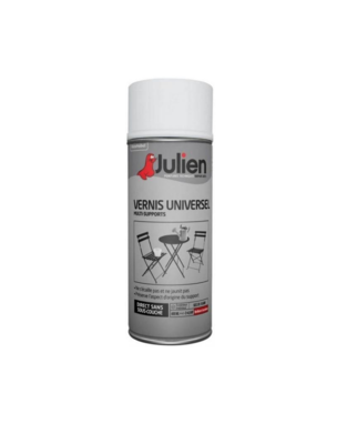 JULIEN PEINTURE VERNIS UNIVERSEL BRILLANT NEUF ROUILLE METAUX 3256615070144 PRO 400 ML SPRAY PAINT DECORATION ART BRICOLAGE RENOVATION RENOVER BOMBE COMASOUND KARTEL CSK ONLINE