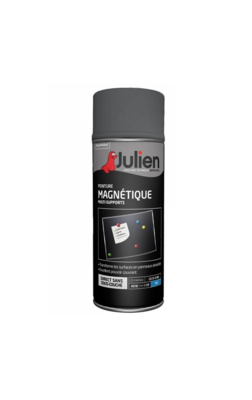 JULIEN PEINTURE MAGNETIQUE GRIS MAT 3031520200844 PRO 400 ML SPRAY PAINT DECORATION ART BRICOLAGE RENOVATION RENOVER BOMBE COMASOUND KARTEL CSK ONLINE