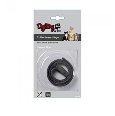 DOGSTORY & CO COLLIER INSECTIFUGE CHATS & CHATONS ANIMAL PROTECTION SOINS ANIMAUX PET CAT VETERINAIRE 3526780985650 COMASOUND KARTEL CSK ONLINE