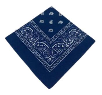 BANDANA DARK BLUE COIFFURE MODE PROTECTION VISAGE CAGOULE GANG GANGSTA GANGSTER CASQUETTE CAP DURAG VETEMENT ACCESSOIRE CHAPEAU DECO VETEMENT CLOTHING APPAREL WEAR GRAFFITI COMASOUND KARTEL CSK ONLINE