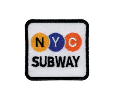 NYC SUBWAY WHITE BLASON BRODERIE VETEMENT WEAR CLOTHING CUSTOM APPAREL HABIT REPARER DECORATION HIP HOP ART GRAFFITI ARTISTE TAG SHOP PRO COMASOUND KARTEL CSK ONLINE