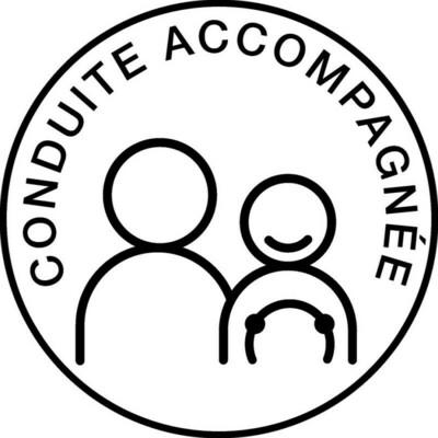 TBC DISQUE CONDUITE ACCOMPAGNEE APPRENTI JEUNE CONDUCTEUR AUTO CAR TRUCK VAN VOITURE VEHICULE  15 cm ADHESIF  3305680001642 COMASOUND KARTEL CSK ONLINE